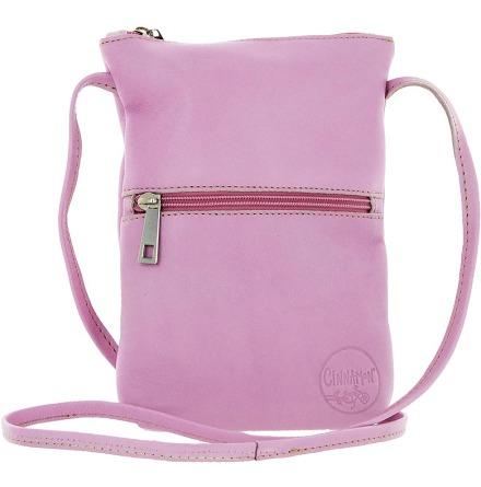 Citybag rosa 181 i skinn med blommigt foder