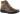 Kattis mörkbrun känga med snörning och dragkedja