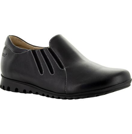 Nadine svart/svart lätt loafer med resårer