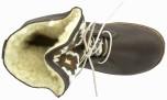 Tiffany mörkbrun ullfodrad skinnkänga