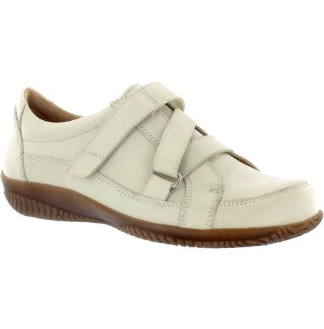Maria offwhite sko med engrepps z-kardborre