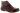 Marianne aubergine präglad skinnkänga med kardborre
