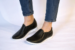 Nadine svart lätt loafer med resårer