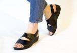 Pandora svart hallux sandal avtagbar hälrem