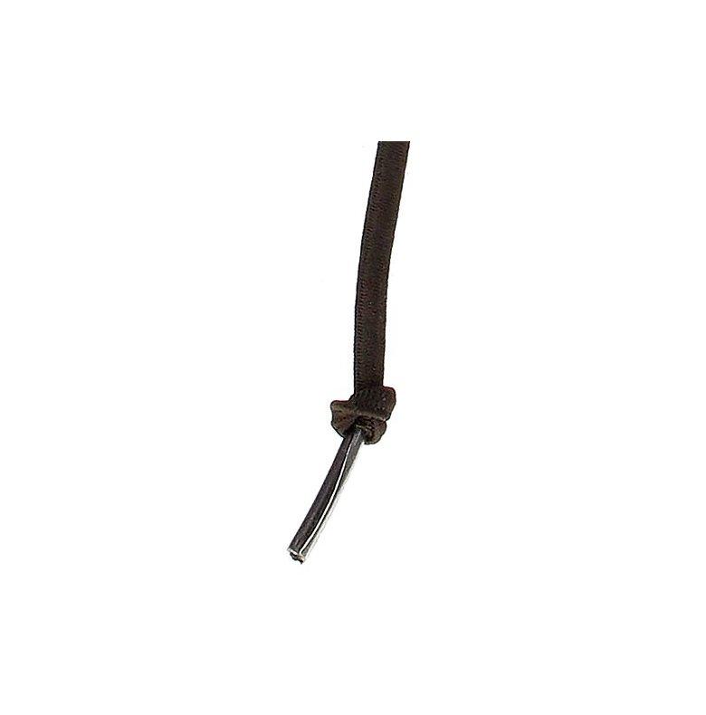 Skosnöre elastiskt mörkbrun