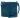 Stor skinnväska petrol 162 med blommigt foder