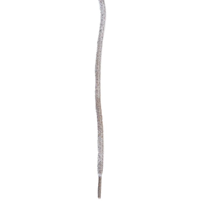 Skosnöre metallic silver