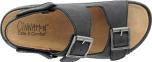 Knut svart sandal m 2remmar+ avtagbar bak