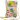 Citybag hawaiblommig i skinn med blommigt foder