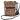 Citybag skinn/brokadväska orange med blommigt foder