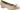 Angelina guld pumps med klossklack och rosett